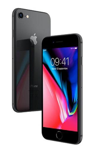 """Smartphone 4.7"""" Apple iPhone 8 - 64 Go (Reconditionné - Grade A) + agrandisseur d'écran"""