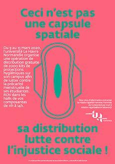 [Étudiants] Distribution gratuite de Kits Hygiéniques (Protections Réutilisables, Serviettes, Tampons) - Université Le Havre (76)