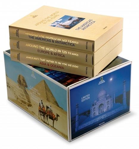 Coffret 3 Livres National Geographic Le tour du monde en 125 ans: Asie et Océanie; Europe et Afrique; Amérique & Antarctique