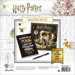 Coffret collection Harry Potter (Version anglaise - 2019) - Calendrier 2019 + Agenda A5 + stylo