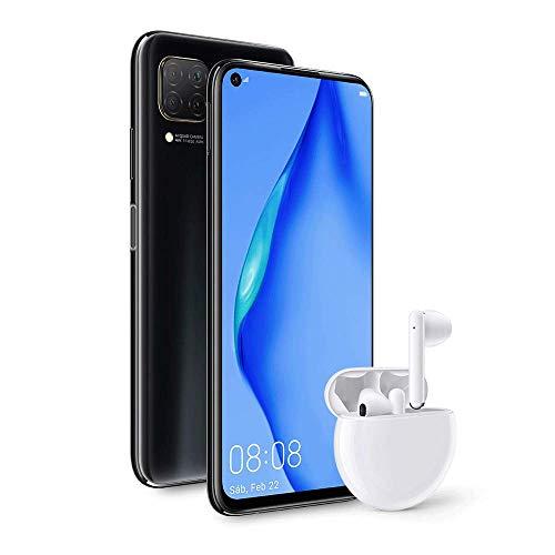 """[Précommande] Smartphone 6.4"""" Huawei P40 Lite - 128Go, 6Go de Ram (Sans Services Google) + Ecouteurs Freebuds 3"""