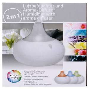 Humidificateur d'air avec LED + 3 fragrances incluses