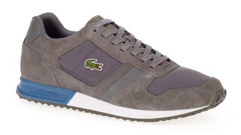 Chaussures Sneakers Vauban Lacoste en Suédine - Gris