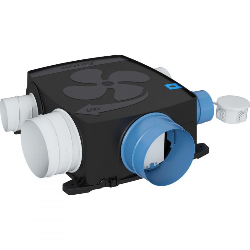 Kit VMC simple flux extra plat autoréglable SAUTER Agalina 123209 - 100W (discountetqualite.fr)