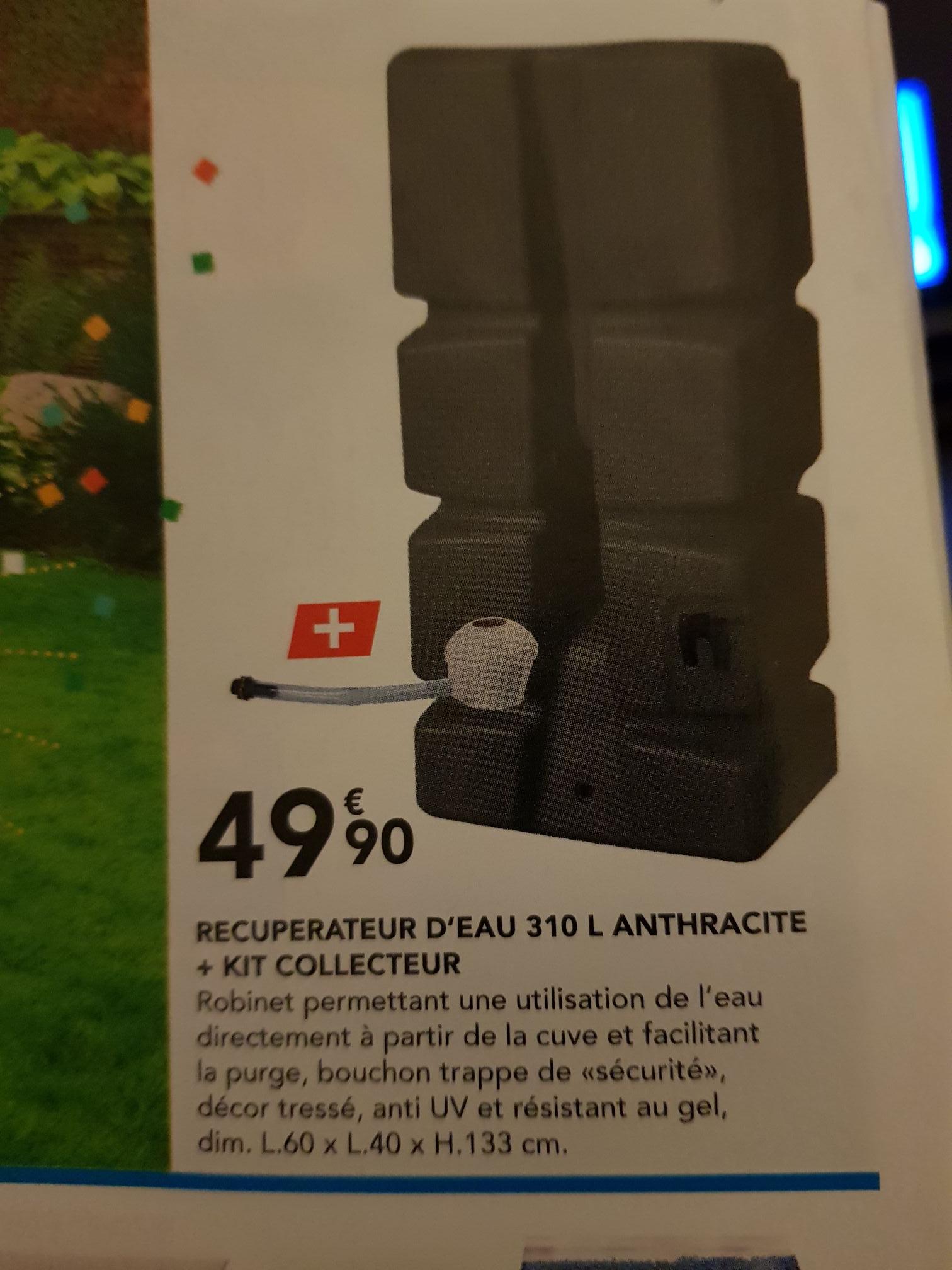 Récupérateur d'Eau - 310L + Kit Collecteur - Les Briconautes