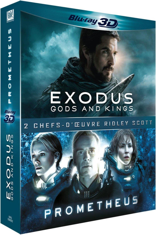Coffret Blu-ray Exodus Gods and Kings + Prometheus (3D + 2D)
