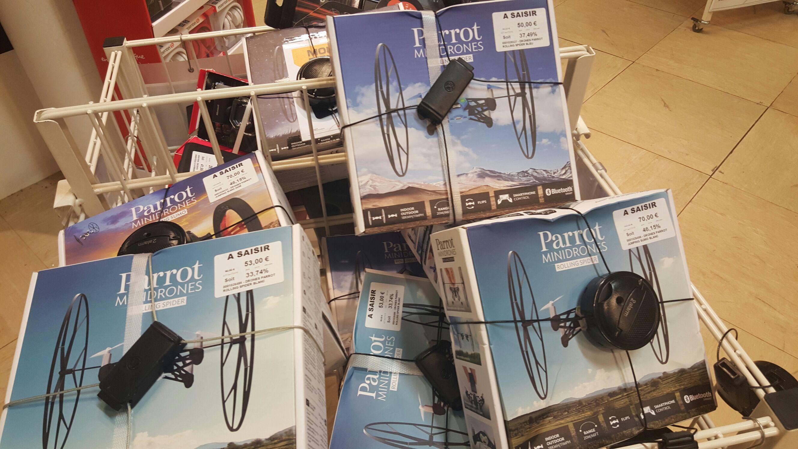 Drones Parrot Jumping Sumo et Rolling Spider