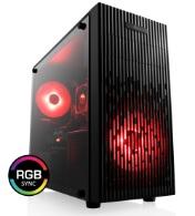 Tour PC Fixe Gaming - Ryzen 5 3600, GTX 1660 Super OC 6Go, RAM 16Go 3000 MHz, SSD 240Go, Alim 500W