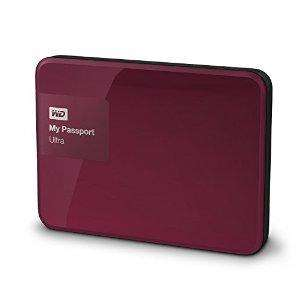 """Disque dur externe 2.5"""" Western Digital My Passport Ultra 2 To - Rouge"""