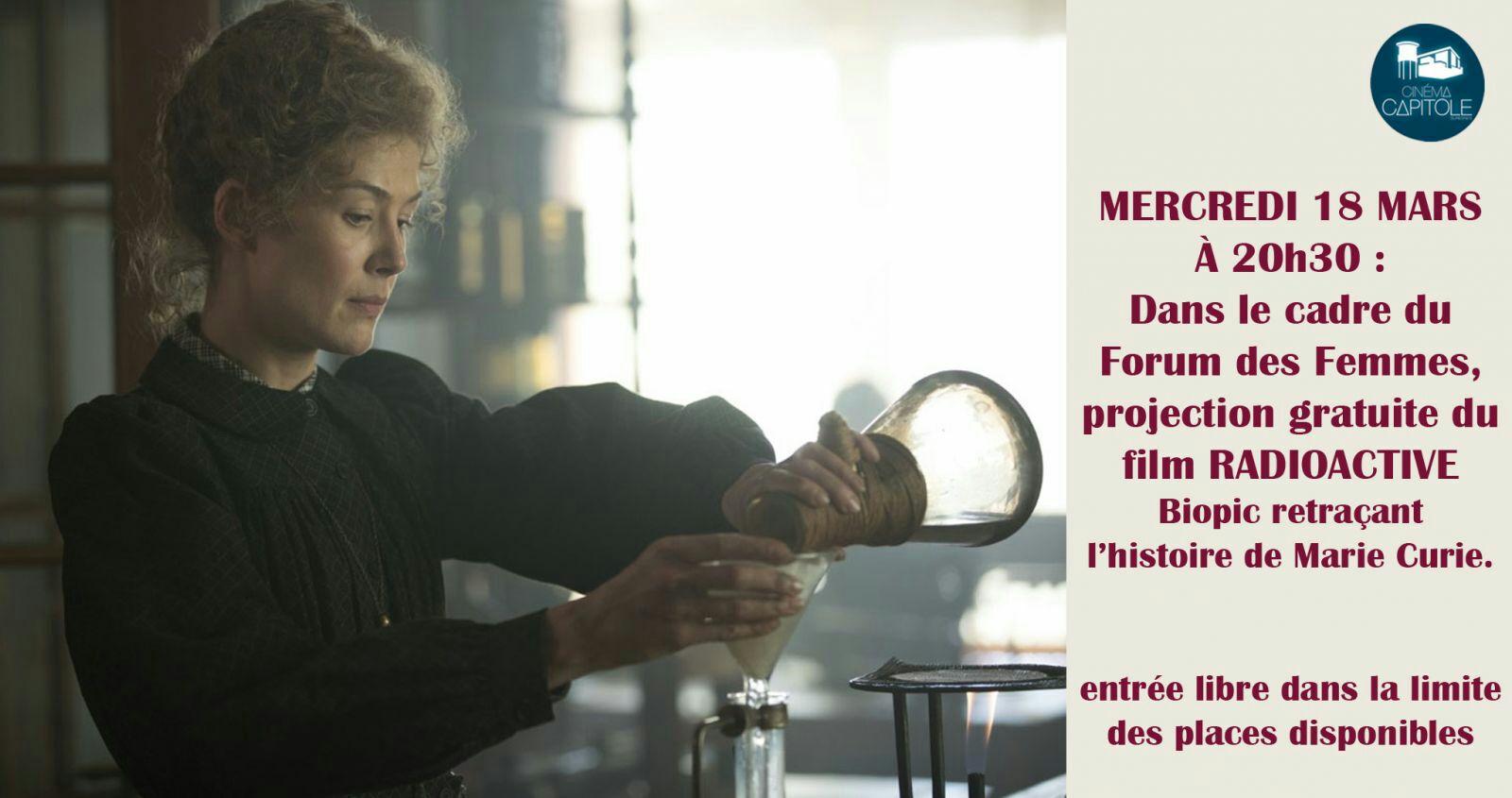Projection gratuite du film Radioactive le 18 mars - Cinema Capitole Suresnes (92)