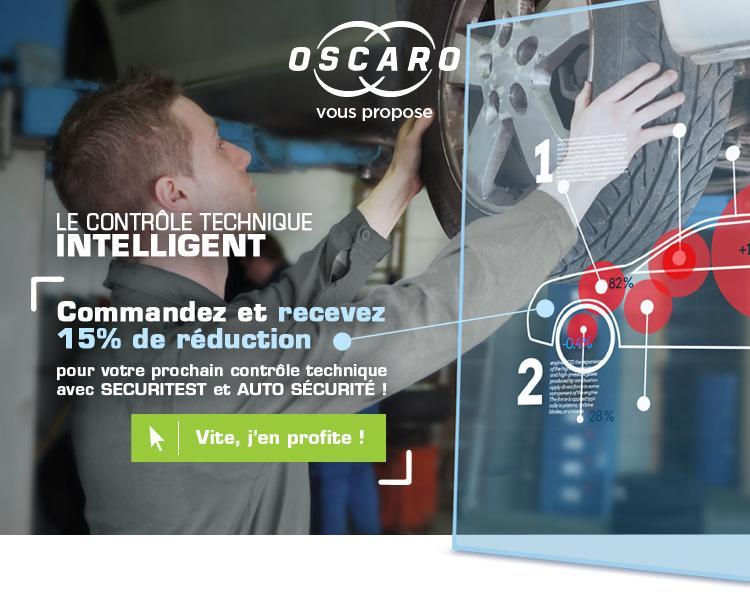 15% de réduction sur votre prochain contrôle technique Securitest ou Auto Sécurité pour toute commande