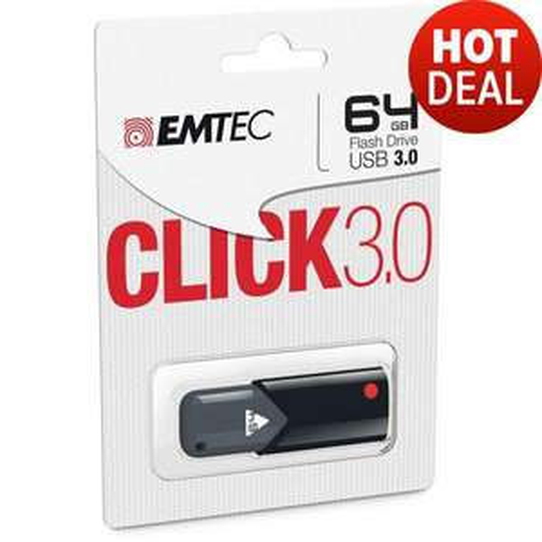 Clé USB 3.0 Emtec Click B100 64Go
