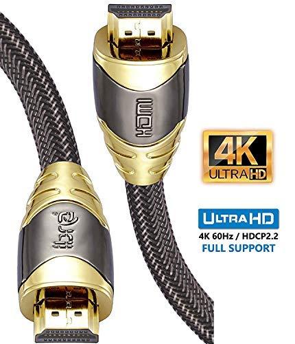 Câble HDMI 2.0b - 4K UHD 60hz, Ethernet en Nylon Tressé (Vendeur tiers)