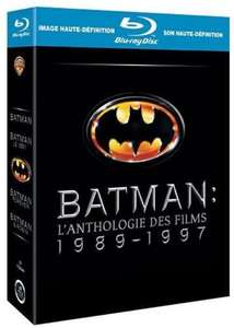 Coffret Blu-ray Batman Anthologie 1989-1997 (4 films)