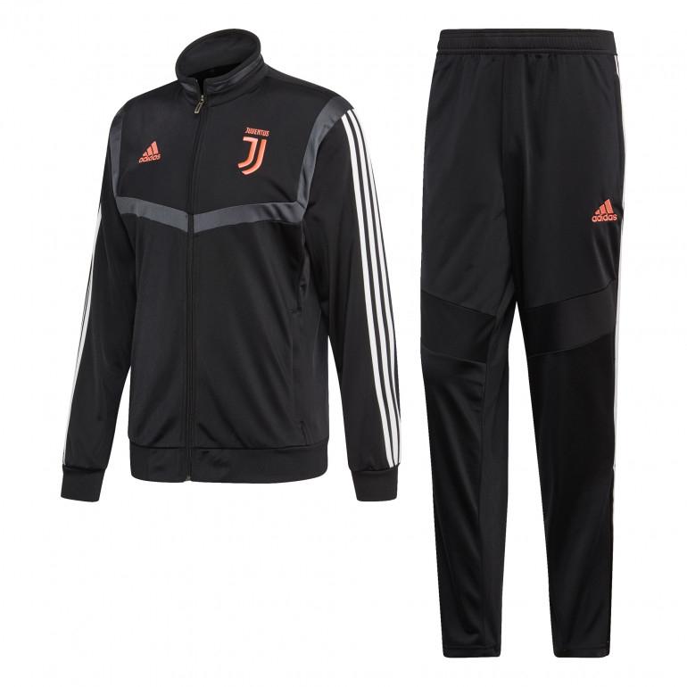 Survêtement pour adultes adidas Juventus FC 19/20 - Noir / Rose (Tailles XS à M et 3XL)