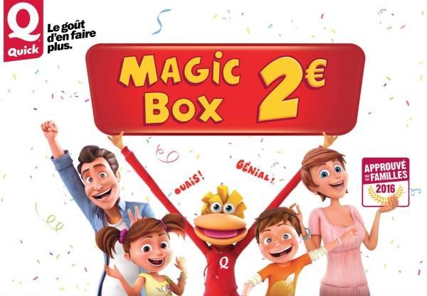 Menu Magic Box le soir du lundi au jeudi