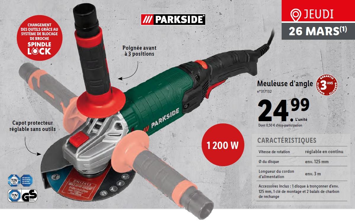 Meuleuse d'angle Parkside - 1200W, 125mm