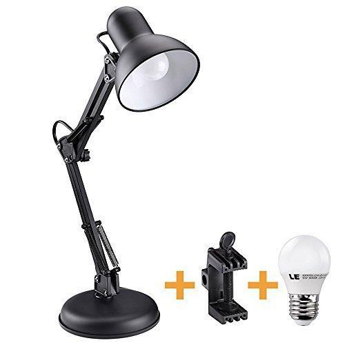 Lampe de bureau bras pivotant  Lighting Ever +pince et ampoule led 40w