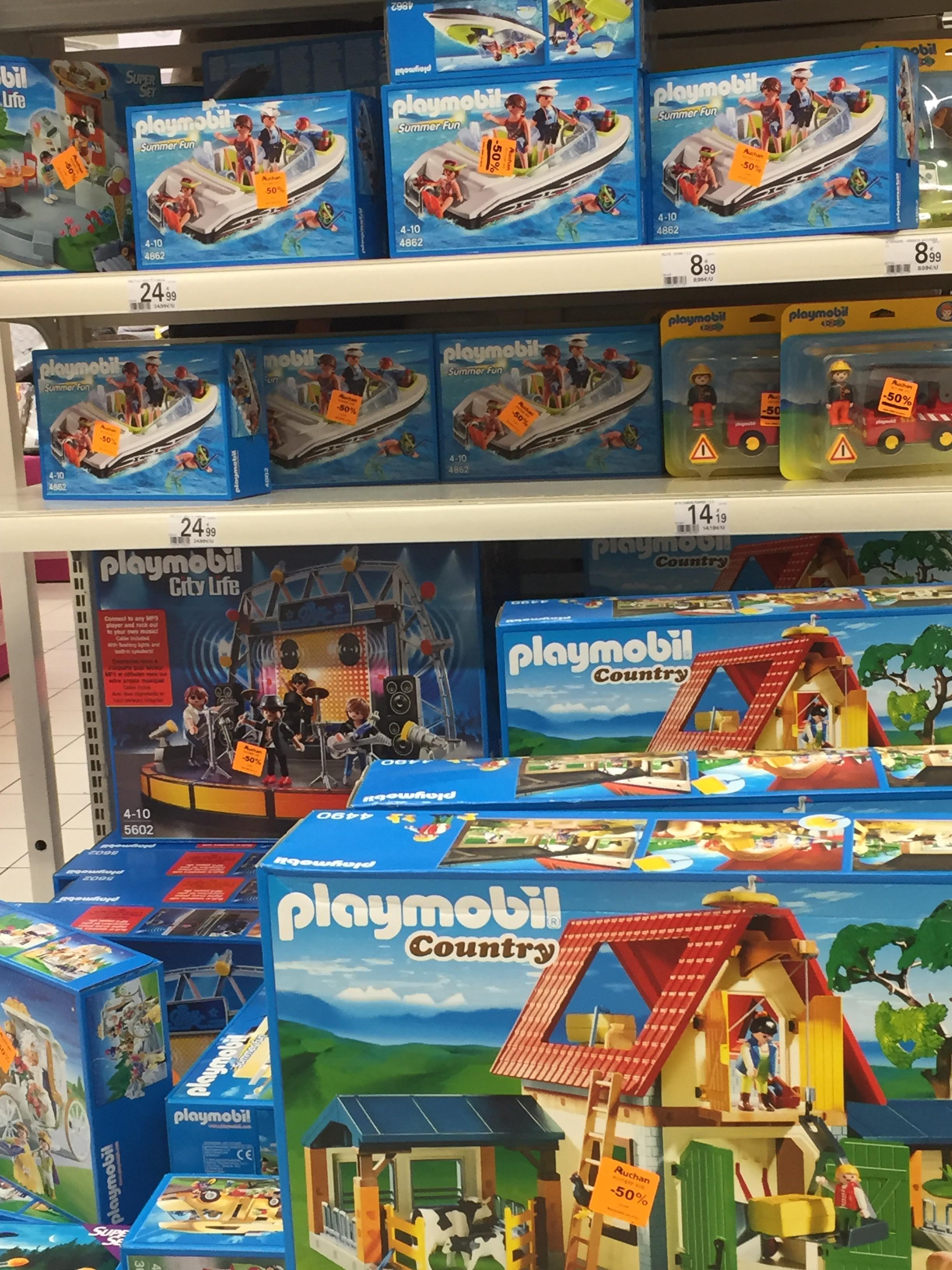 50% de réduction sur une sélection de  jouets Playmobil