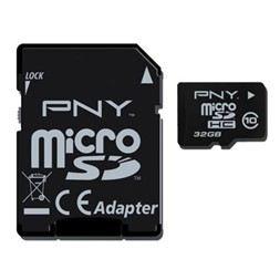 PNY Micro SDHC Classe 10 32 Go + 1 jeu Gameloft
