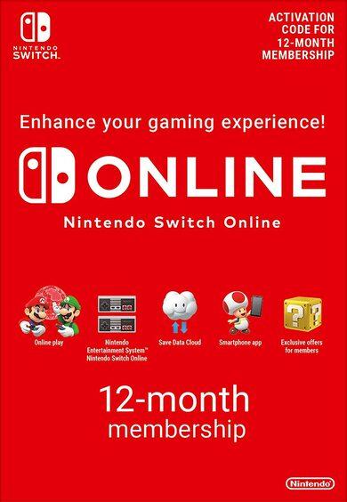 Abonnement Nintendo Switch Online pendant 12 mois (Dématérialisé)