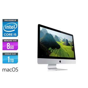 "Ordinateur AIO 21.5"" Apple iMac - FHD, Intel Core i5-4570R, 8 Go de RAM (DDR3), HDD 1 To (Reconditionné)"
