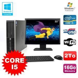 Lot PC de bureau HP Elite 8200 SFF (Core I5 3.1GHz, 16 Go de RAM DDR3, HDD 2To) + Ecran 22 (Occasion bon étant - Vendeur tiers)