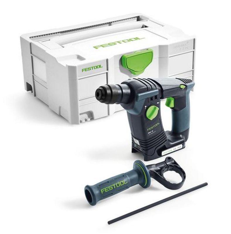 Perforateur sans-fil Festool BHC 18 Li-Basic 574723 + Batterie 5.2Ah Bluetooth offerte
