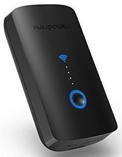 Lecteur de carte mémoire batterie externe RAVPower - 6000mAh