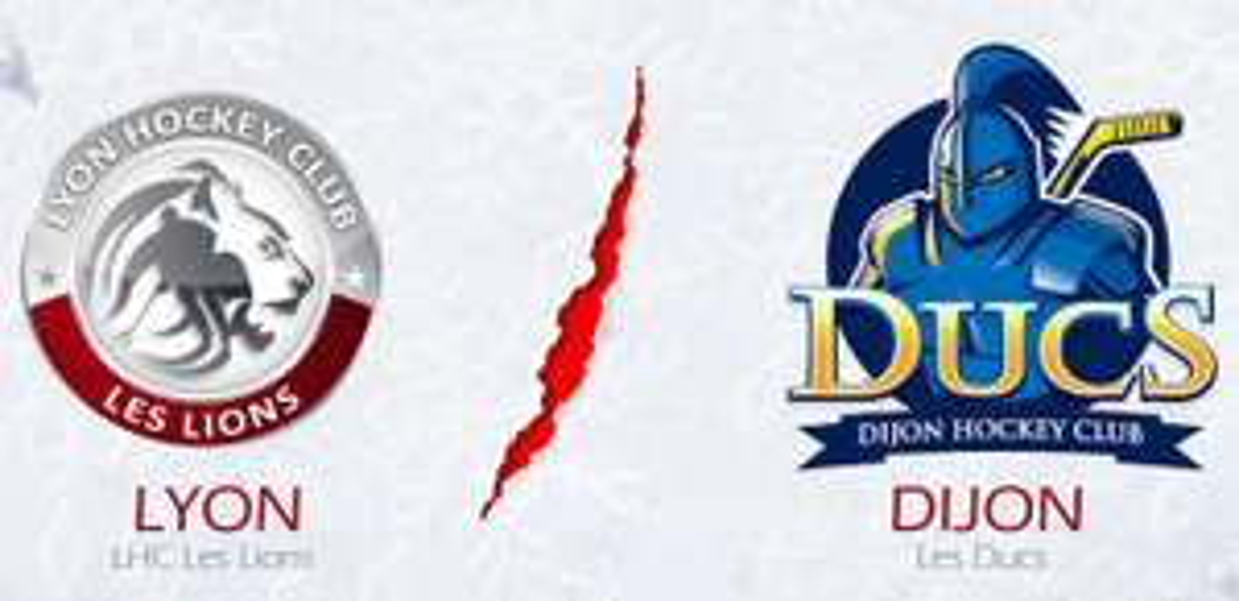 Place match de Hockey Lyon (LHC Les Lions) - Dijon (Les Ducs) + Bière à Lyon