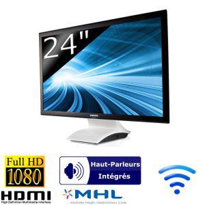 """Ecran PC Samsung C24B750X LED 24"""" Full HD avec station d'accueil et liaison sans fil WiDi"""