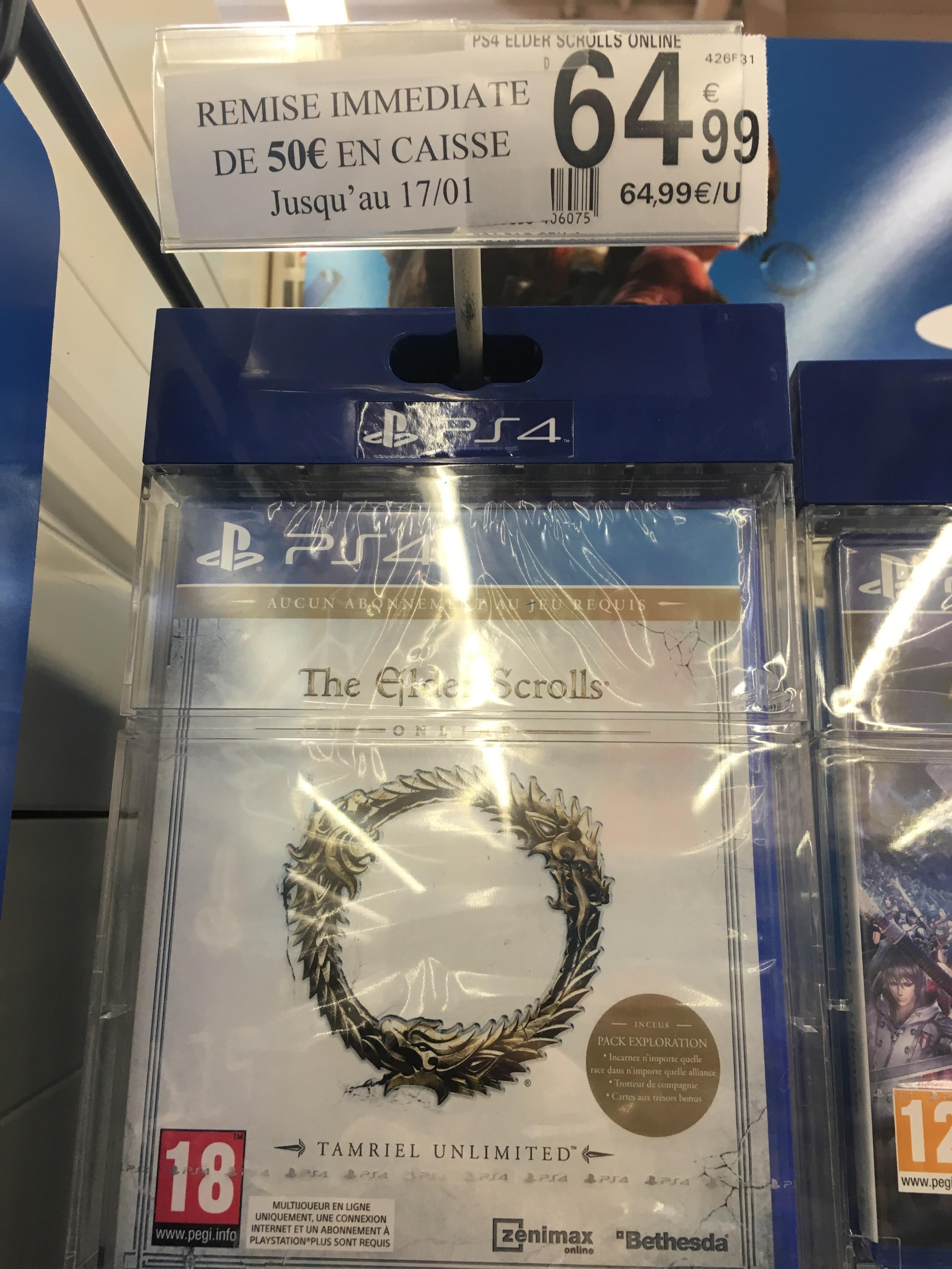 The Elder Scrolls Online : Tamriel Unlimited sur PS4 et Xbox One