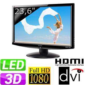 """Ecran PC 23,6"""" LED ViewSonic V3D241wm 3D + Lunettes"""