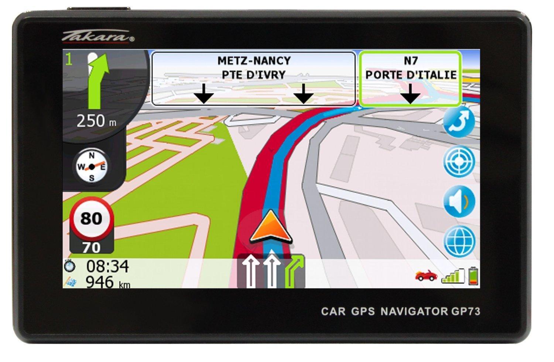 "GPS 4.3"" Takara GP73 LM 15 pays - Carte à vie"