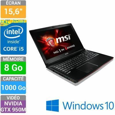 "PC Portable 15.6"" MSI GP62 2QE(Leopard Pro)-076FR - Intel i5-4210H, 8 Go de Ram, 1 To, GeForce GTX 950M"