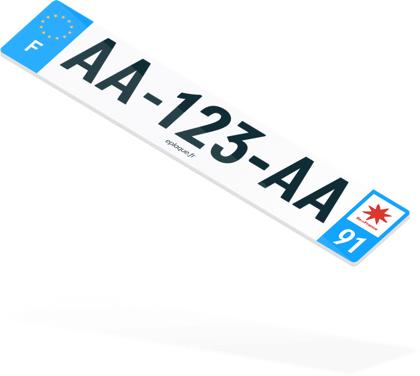 Plaque d'immatriculation auto personnalisable