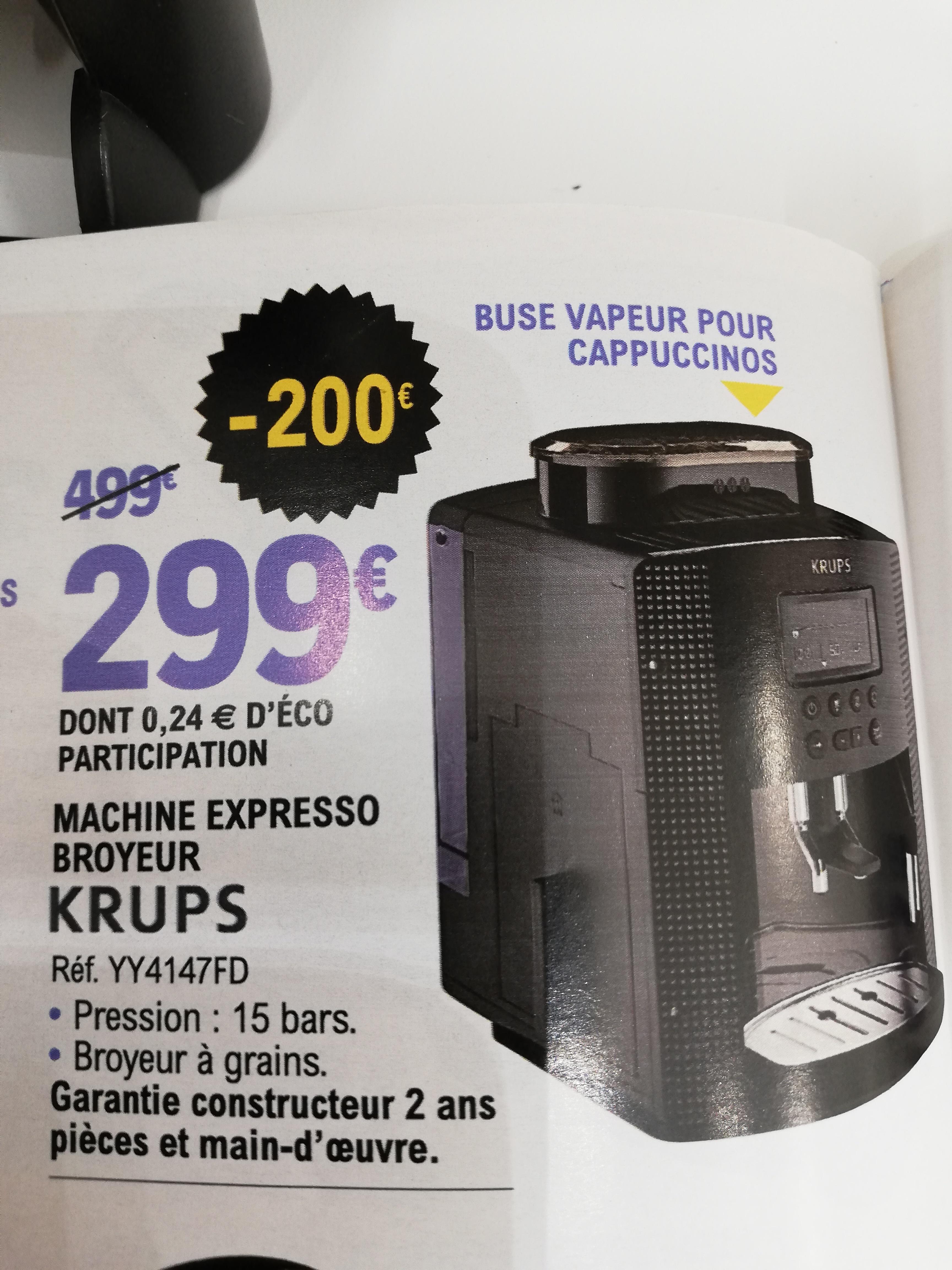 Sélection d'offres électroménager - Ex : Machine expresso broyeur Krups YY4147FD - 1,7L, 15bar (Gouesnou 29)