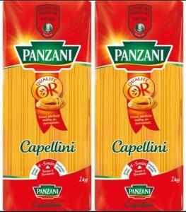 2 paquets de pâtes Panzani - 2 x 1Kg, Variété au choix