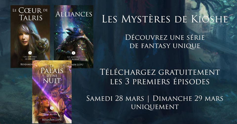 Roman Les Mystères de Kioshe t. 1,2,3 gratuits (Dématérialisé - Kindle)