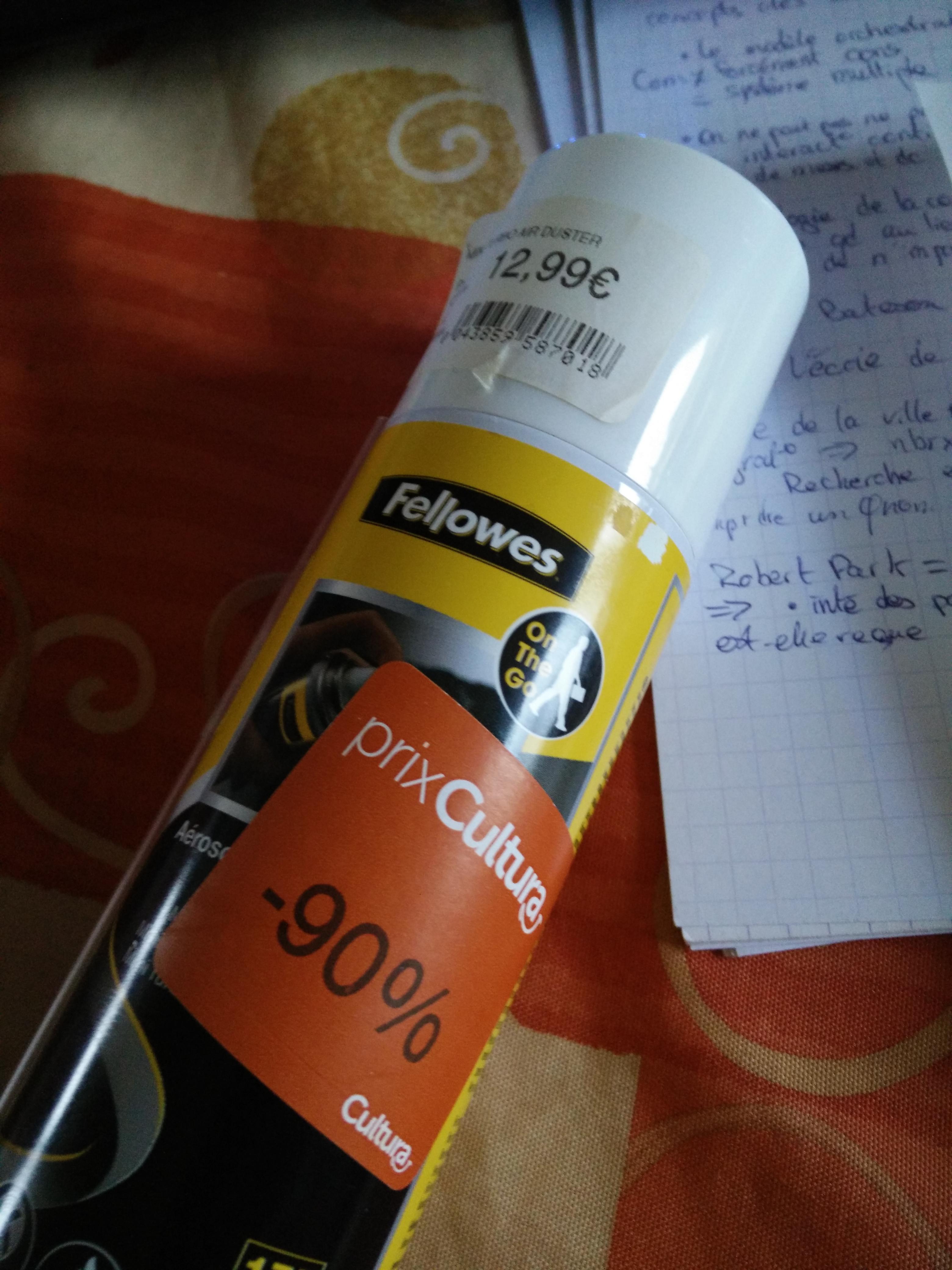 Divers produits à -90% - Ex: Bombe aérosol dépoussiérant 100ml