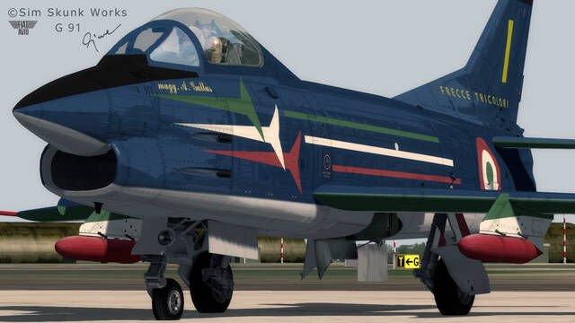 Complément Sim Skunk Works Fiat / Aeritalia G91 A/R/PAN pour FSx ou P3D (dématérialisé) - secure.SimMarket.com