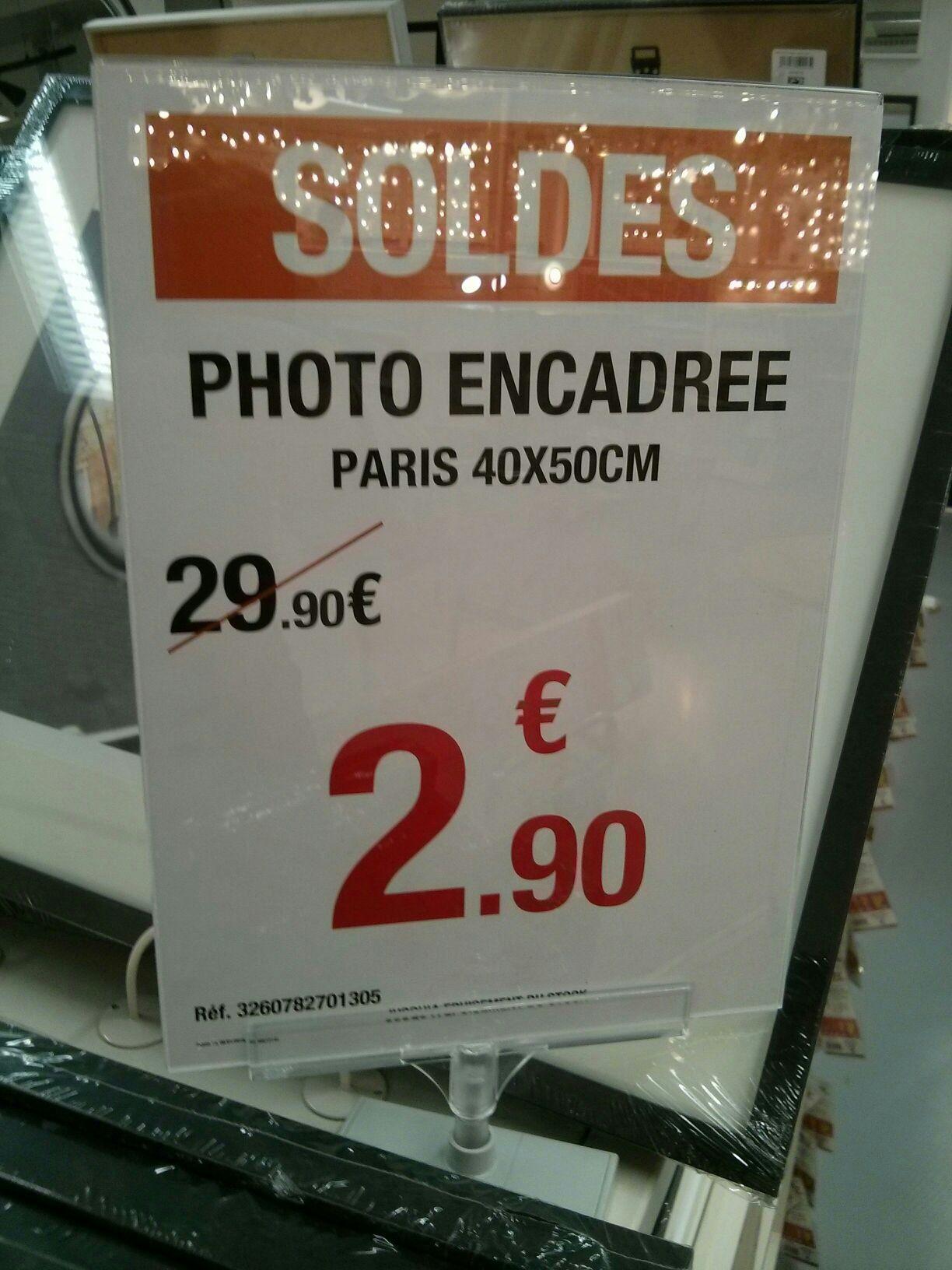 Photo Encadrée Paris Noir - 40x50cm