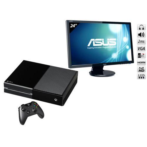 """Console Microsoft Xbox One 500 Go + Ecran PC 24"""" Asus VE247H - DVI et HMDI"""