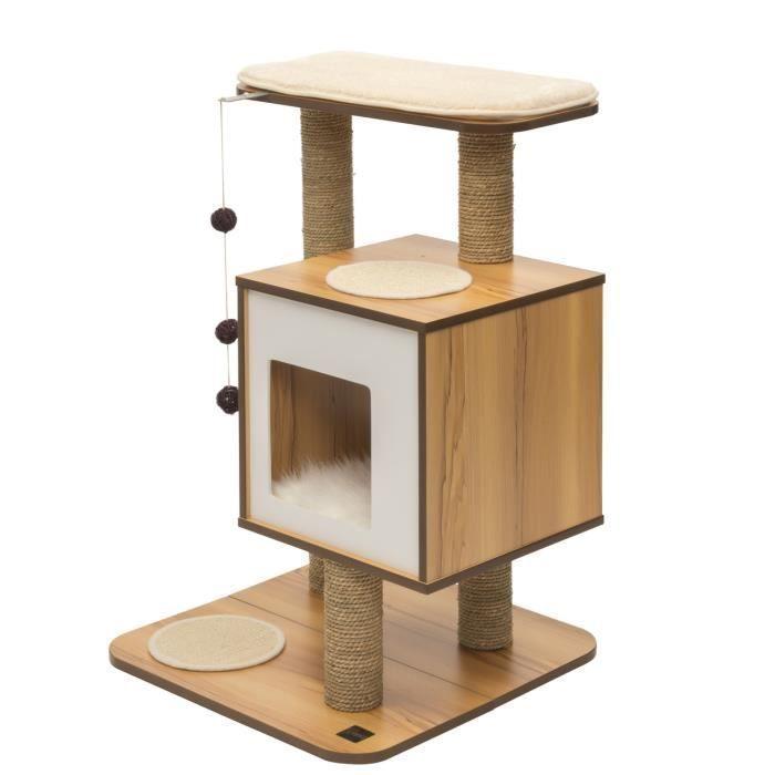 Arbre à chat Vesper V Base Noyer - H 81.5cm