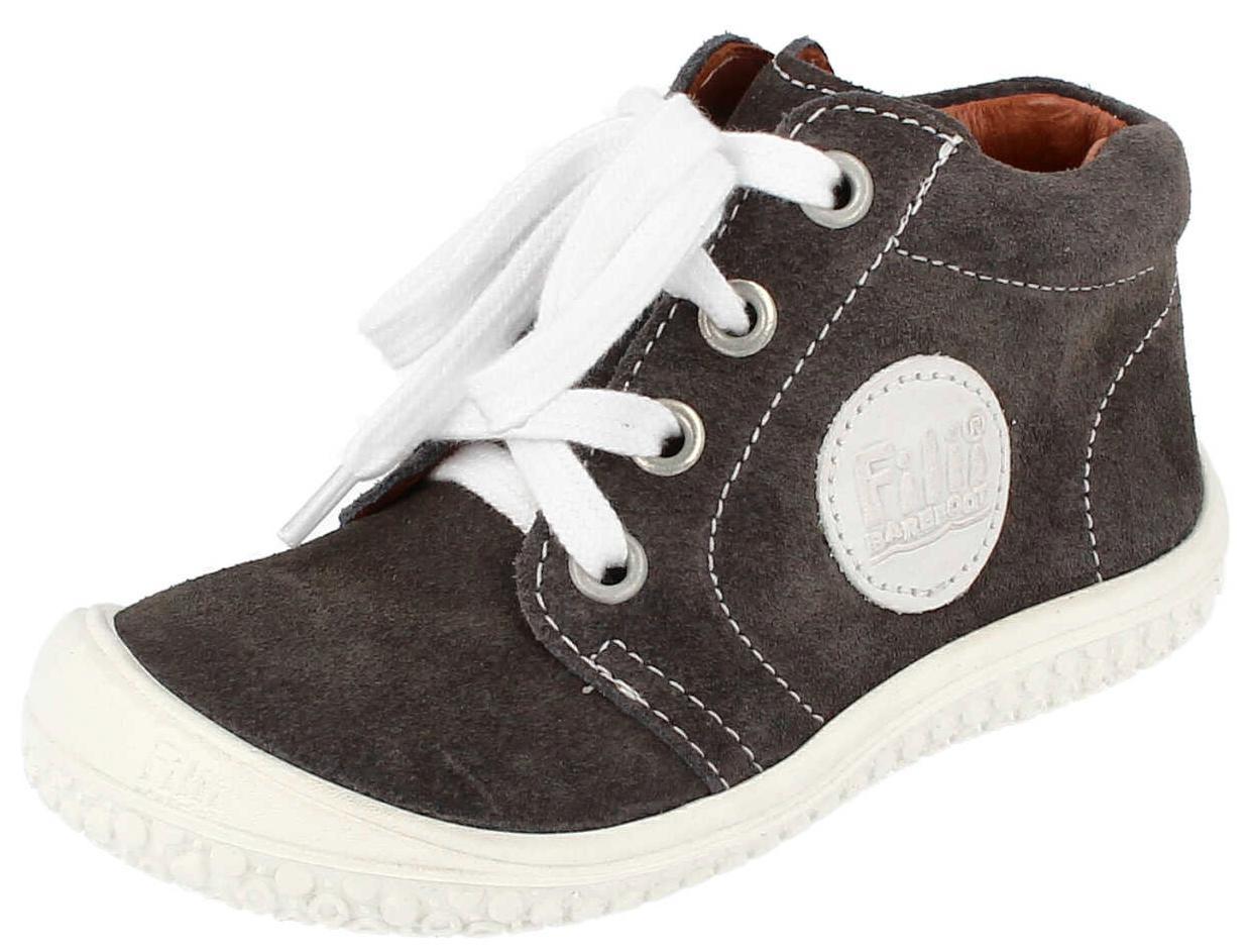 Sélection de chaussures enfant en promotion - Ex : Chaussure à lacet Filii Barefoot - Graphite, velours, Taille 20/21 (filii.eu)