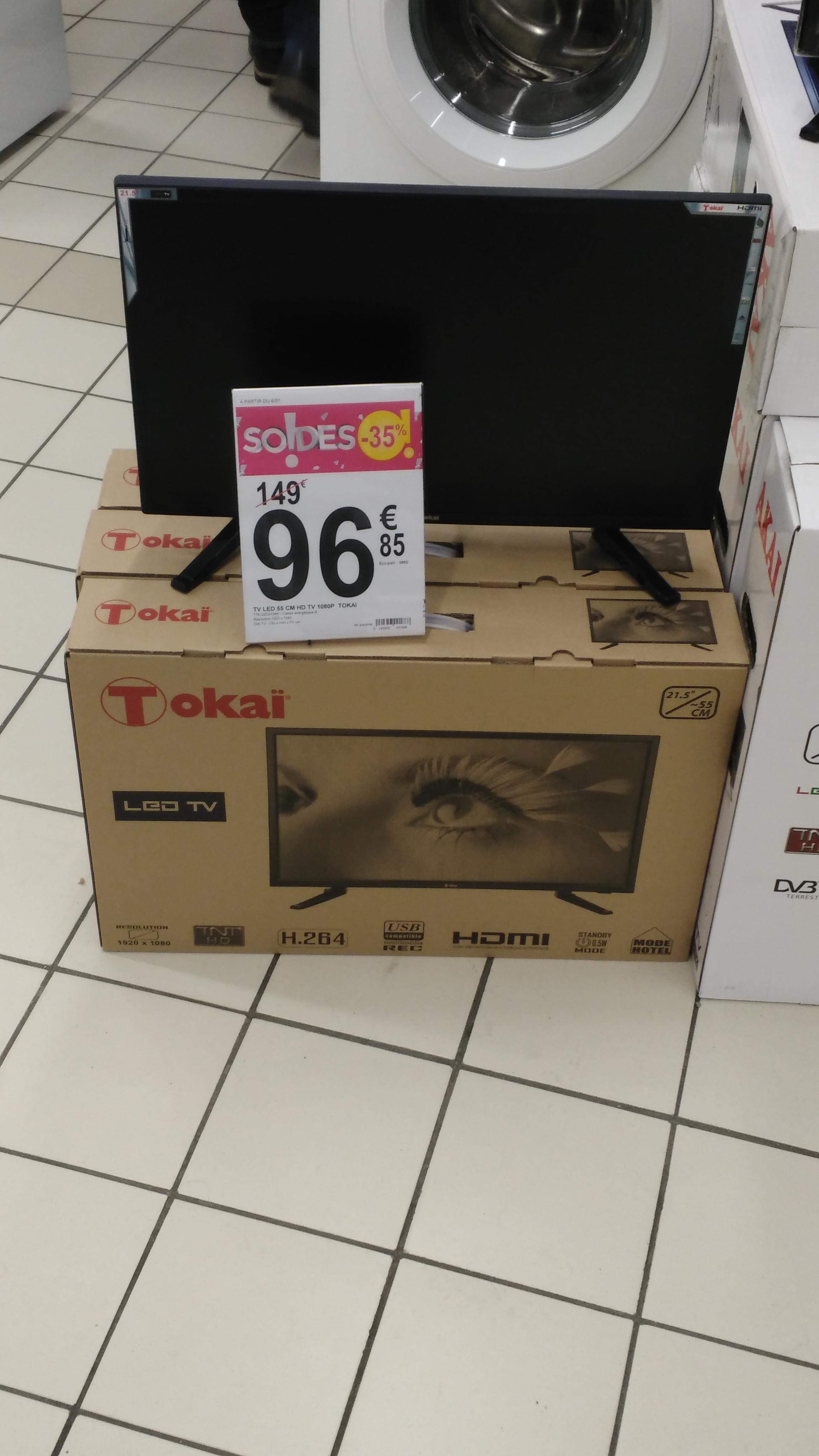 "TV 21.5"" Tokaï TTE-22D2104K - LED, Full HD"