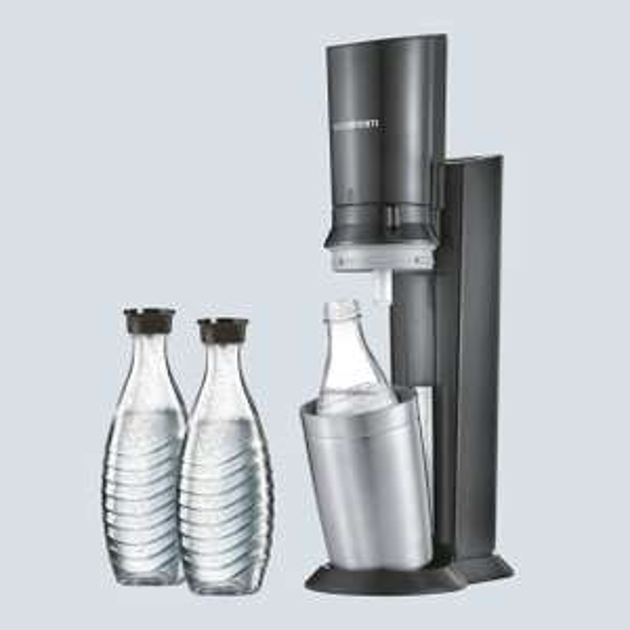 Machine à gazéifier SodaStream Crystal avec 3 carafes en verre