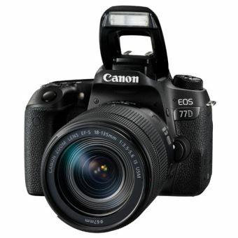 Appareil Photo Reflex Canon EOS 77D + Objectif Zoom 18-135MM IS STM - Capteur Aps-C 24Mp, Plage ISO: 100-25600, Bluetooth & Wi-Fi