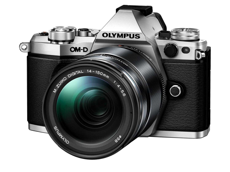 Appareil photo numérique hybride Olympus OM-D E-M5 Mark II (16.1 Mpix, Live MOS, argent) + Objectif M.Zuiko Digital ED 14-150 mm II
