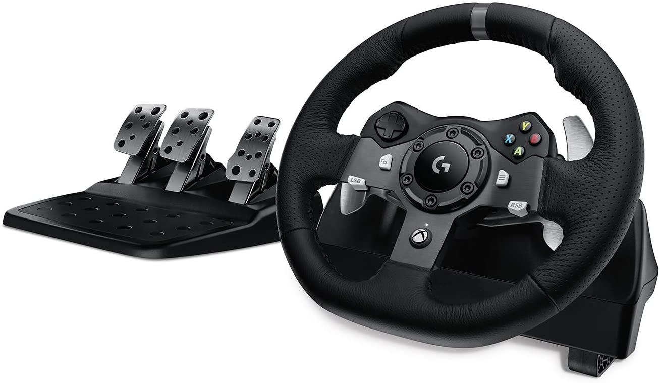 Volant Logitech G920 Driving Force avec Pédalier pour Xbox One et PC